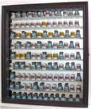 100 Thimble Display Cabinet, with Mirror Back & Removable Glass Shelves