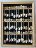 36 Spoon Display Case, Natural Wood Finish