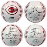 Cincinnati Reds 2013 Team Roster Rawlings Baseball in a Clam-shell Display case