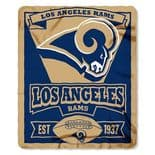 Los Angeles Rams Fleece Throw Blanket, Established 1937 Marquee Design