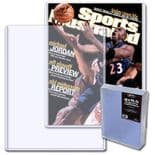Magazine Holder For Storage & Display, Rigid Toploader 9x11.5 inches x7mm x 10 per pack