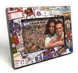 Texas Rangers 4x6 inch Picture Frame, Ticket Collage Black Wood Edge