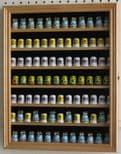 Thimble & Minatures Display Cabinet with glass door & 7 shelves