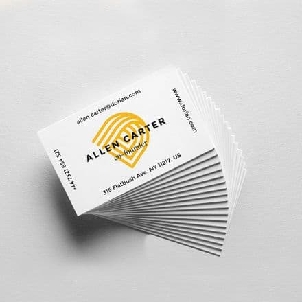 Business Cards with Soft Touch Lamination
