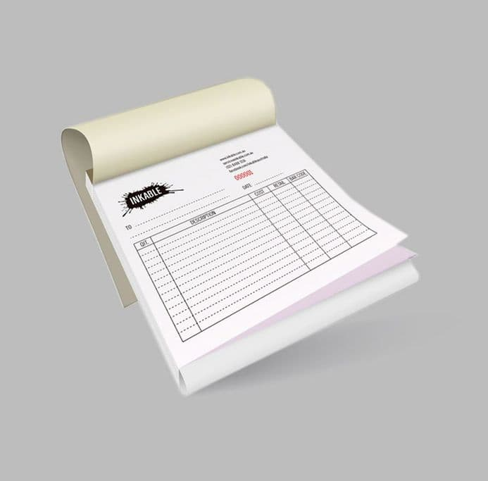 NCR  Books  (Stapled) - One Color Printing