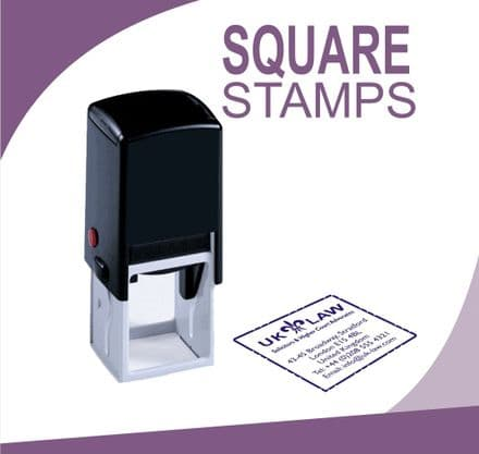Self Inking Square Stamps