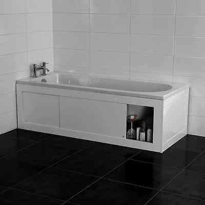 Croydex Unfold 'N' Fit White Bath Panel with Lockable Storage