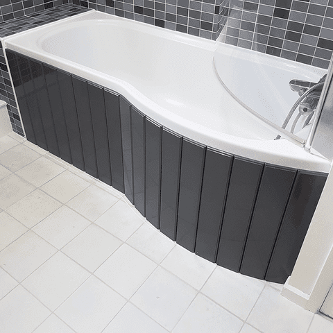 Flexible Bath Panel ideal for P Shaped Shower Baths any colour / finish TRADE PACK