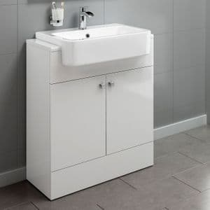 High Gloss White Bespoke Vanity Unit