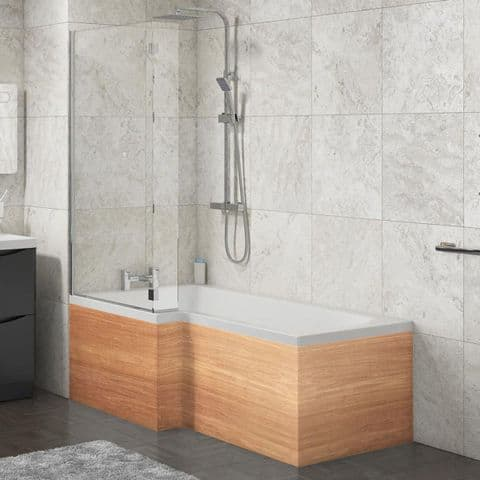 L Shape Shower Bath Panels Marine Ply