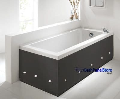 Luxury Antracite 2 Piece adjustable Bath Panels with LED Lights