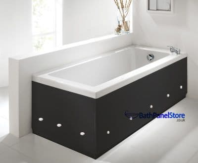 Luxury Black 2 Piece adjustable Bath Panels with LED Lights
