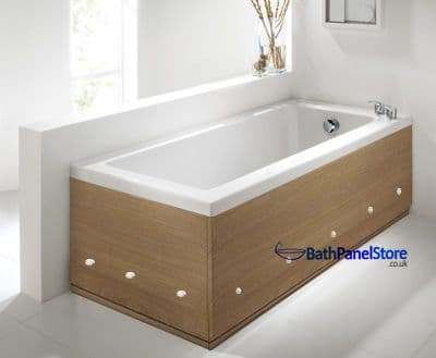 Luxury LED Illuminated Lancaster Oak 2 Piece adjustable Bath Panels
