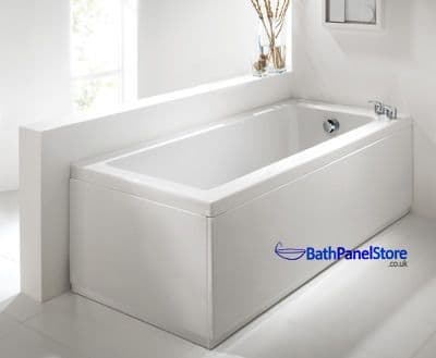 Luxury Matt White 2 Peice Adjustable Bath Panel Set