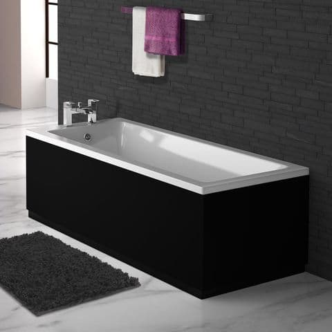 Matt Black 2 Piece adjustable Bath Panels