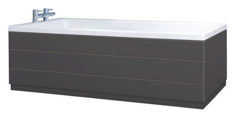 Plank Style Anthracite 2 Piece adjustable Bath Panels
