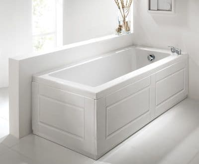 Shaker Style High Gloss White 2 Piece adjustable Bath Panels