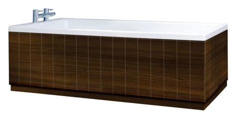 Tongue and Groove Gloss Walnut 2 Piece adjustable Bath Panels