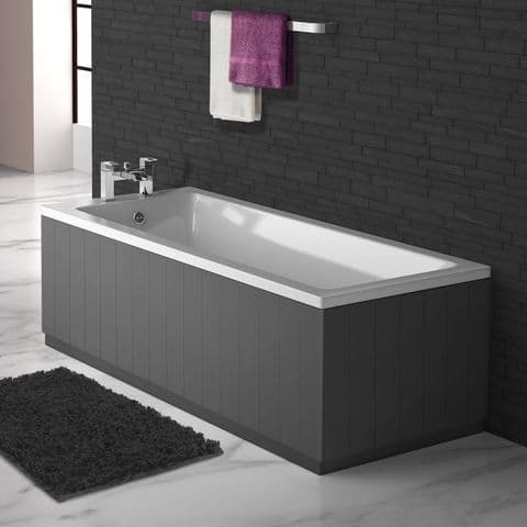 Tongue & groove style Anthracite 2 Piece adjustable Bath Panels