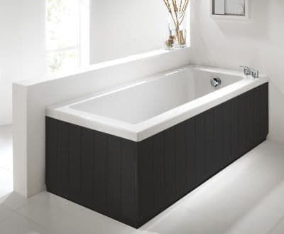 Tongue & Groove Style Black 2 Piece adjustable Bath Panels