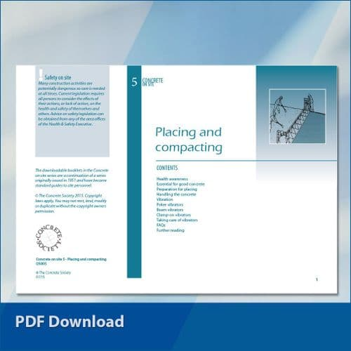 Concrete on site 5: Placing and compacting PDF