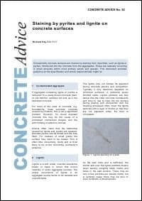 Staining by pyrites and lignite on concrete surfaces. PDF