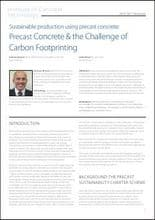 Sustainable production using precast concrete: Precast Concrete & the Challenge of Carbon Footprinting