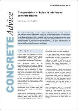 The provision of holes in reinforced concrete beams. PDF