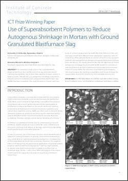 Use of Superabsorbent Polymers to Reduce Autogenous Shrinkage in Mortars with Ground Granulated Blastfurnace Slag