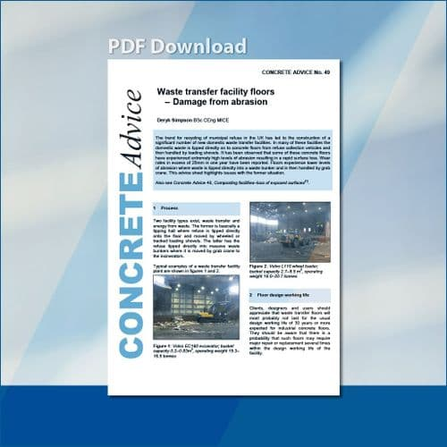 Waste transfer facility floors - Damage from abrasion. PDF