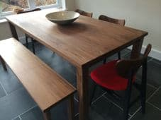 Solid American Black Walnut Dining Table and 2 Benches - The Thixendale