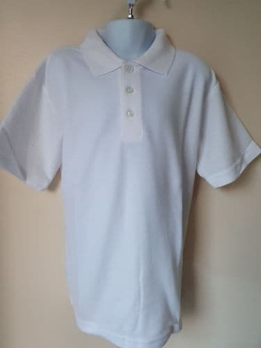 SCHOOL POLO SHIRT- WHITE