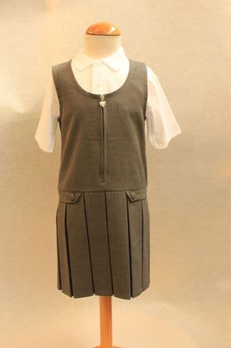 Grey Pinafore Dress (Malmesbury)