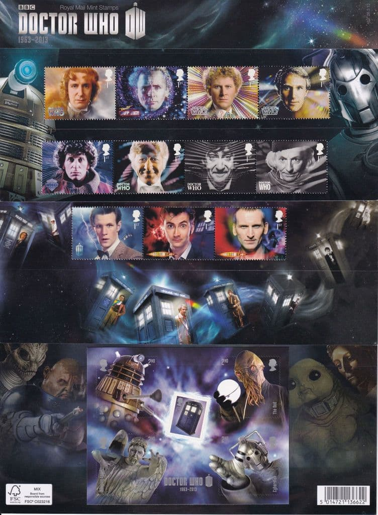 2013 DOCTOR WHO Royal Mail Presentation Pack No 482