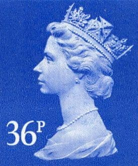 36p Discounted GB Postage Stamp