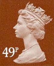 49p Cheap GB Postage Stamp