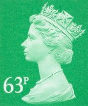63p Discount GB Postage Stamp (mixed designs)