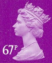 67p Discount GB Postage Stamp (mixed designs)