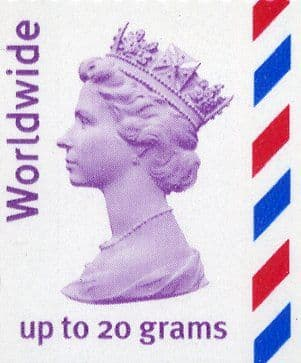Worldwide up to 20 grams worth £1.70 (mixed designs)