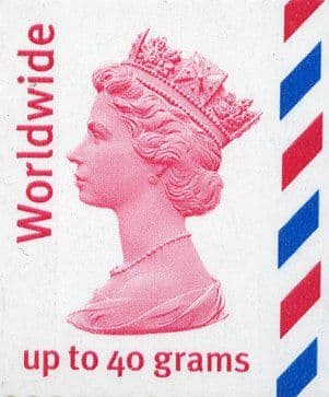 Worldwide up to 40 grams Definitive Stamp (£2.55)