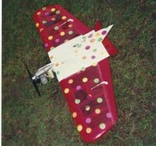 KomBatz 15 Radio Control RC combat flying wing control line style for radio control and 15 engines