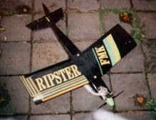 Ripster  .10 to .20 size engines or brushless electric,  cnc cut foam wings laser cut balsa / ply