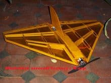 Wasp aerobatic fast delta wing model kit laser cut balsa for cox td 020 or brushless electric mini