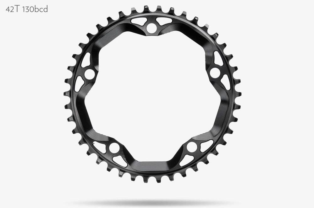 absoluteBLACK Cyclocross Chainring Round CX 130 BCD 5 Bolt Chainring - 42T 130 BCD