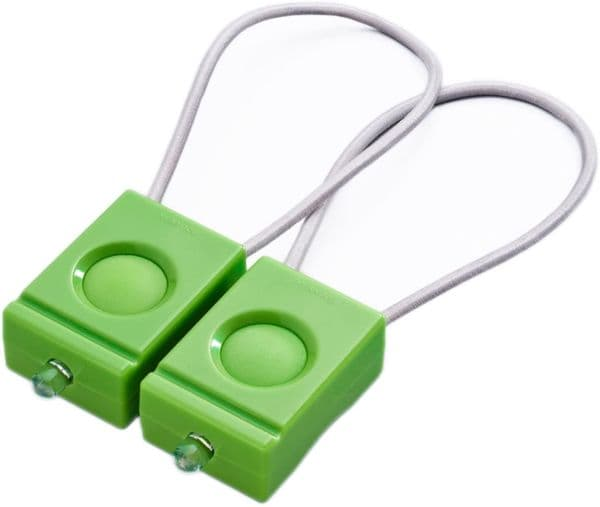 Bookman Front and Rear Bicycle Light Set  Green - Set of 2 Bike lights