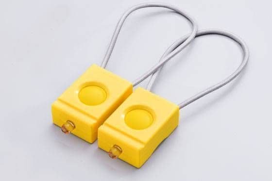 Bookman Front and Rear Bicycle Light Set  Yellow - Set of 2 Bike lights