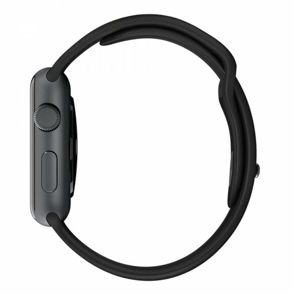 Genuine Apple Watch Sport Band Strap - Black Space Gray Pin -  42mm - SM/ML