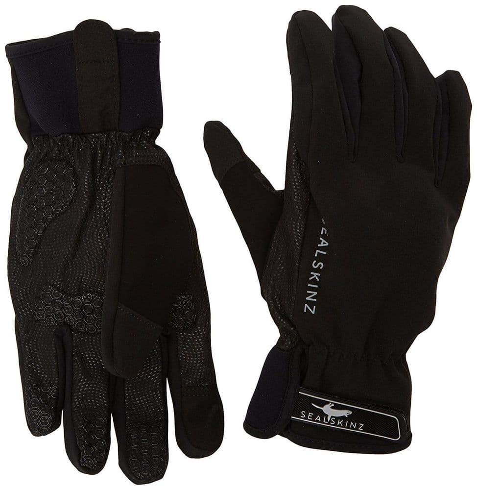 Sealskinz Adult Unisex All Weather Waterproof Windproof Cycle Bike Gloves Touch Black Small S
