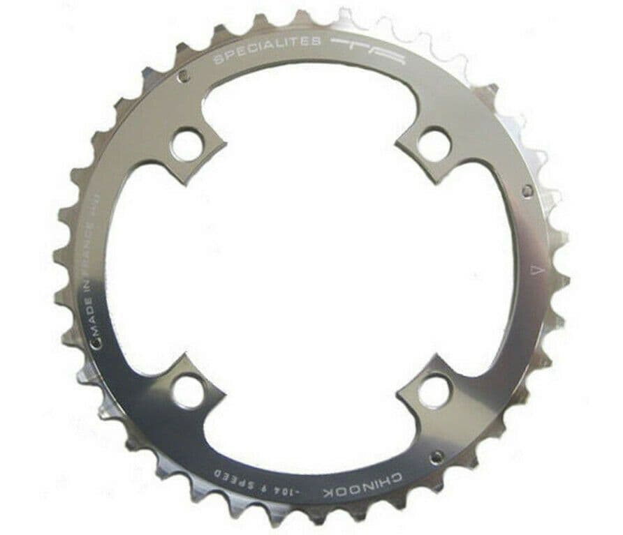 TA SPECIALITES CHINOOK 42T 104mm. BCD - SILVER 9 Speed MTB Middle