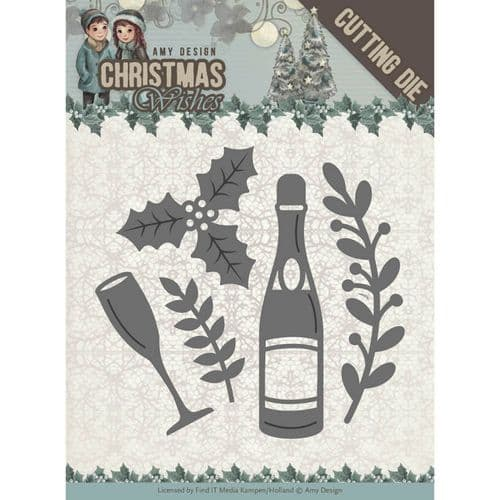Amy Design Christmas Wishes Cutting Dies - Champagne - ADD10152